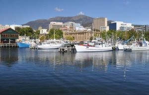 australien tasmanien hobart hobart waterfront and mt wellington450x300