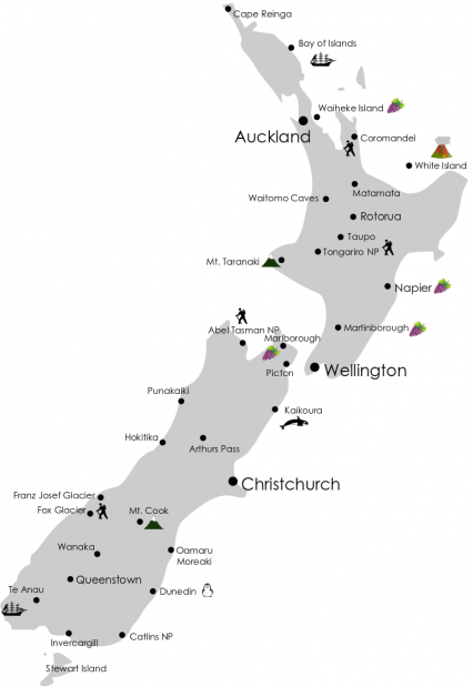 Neuseeland Nordinsel Karte.Wissenswertes über Neuseeland