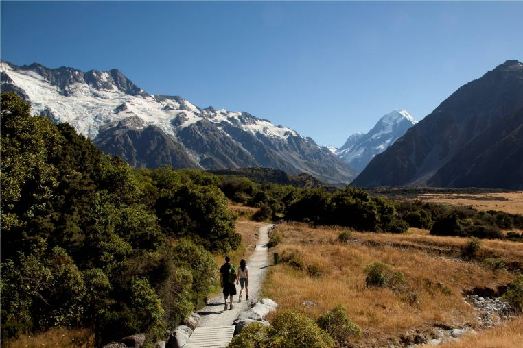 Walkway at Mount Cook